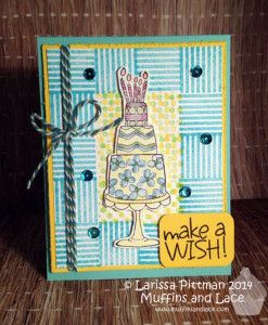 Muffins and Lace Ann Butler Designs Untiy Stamps Make a Wish Birthday Card