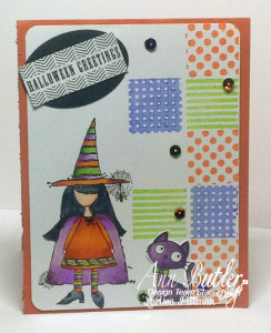 Designed by Muffins and Lace using Ann Butler Designs Faux Quilting Stamps
