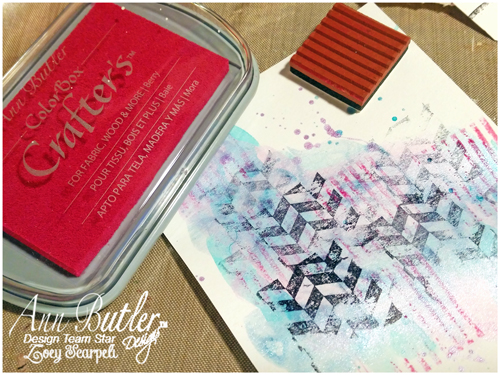 Unity Stamp - Faux Quilted - Ann Butler - Zoey
