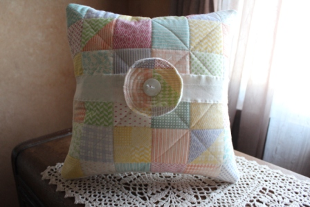Faux Quilted Pillow  (12)
