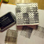 upcycle mini canvas mixed media stamps